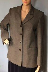 M-amp-S-Femme-Tailored-Blazer-Jacket-Royaume-Uni-Taille-14-P-Vert-Olive-Verifier-entierement-neuf