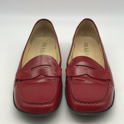 Prada Red Loafers Size 36/6