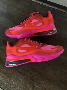 Nike Air Max 270 React Mystic Red Men Size 12 Shoes Pink Ao4971 600 Ebay