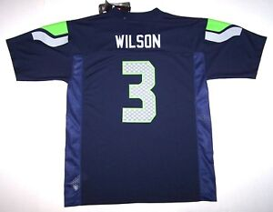 buy popular d8c99 99c6c Details about Nwt New Seattle Seahawks Jersey NFL Football Russell Wilson  #3 Navy Boy Youth