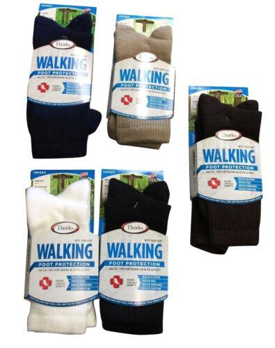 7 Pair of Women/'s THORLO wx11 Walking Socks  BLACK  USA casual 9-11  medium