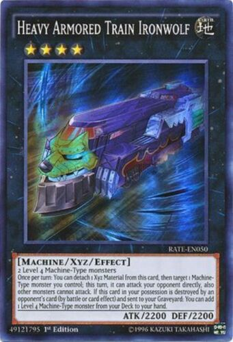 Heavy Armored Train Ironwolf Super Rare 1st Edition RATE-EN050