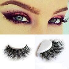 1Pair Handmade 100% Real 3D Mink Full Strip False Eyelash Long Natural Eyelash