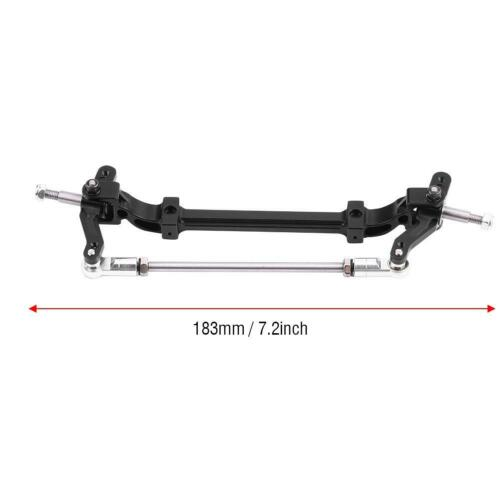 Aluminium Alloy Front End Steering Wheel Axle For 1//14 Scale Tamiya Tractor Car