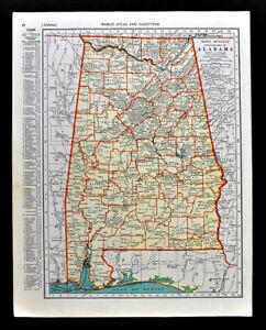1938-McNally-Map-Alabama-Montgomery-Birmingham-Mobile-Bay-Florence-Huntsville-AL