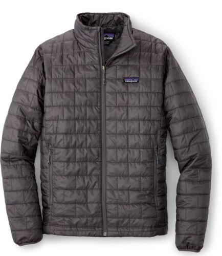 Outdoor Jacket NWT Patagonia Men/'s Nano Puff Jacket Forge Grey Size M