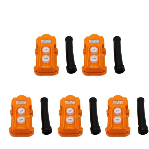 5x COB61 Hoist Push Button Switch Crane Pendant Control Station 2 Ways 2//5A