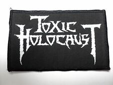 TOXIC HOLOCAUST  WHITE LOGO      WOVEN  PATCH