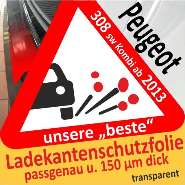 Peugeot 308 II 2 Sw Combi de 2013 Film Protection la Peinture Chargement Seuil