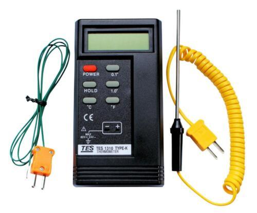 K Typ Tes 1310 Digital- Thermoelement Thermometer 1300°C 2 X Sonden Bga