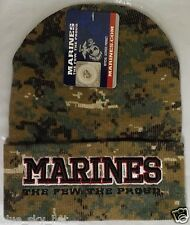 THE FEW PROUD WOODLAND CAMO US MARINE USMC WINTER SKI KNIT BEANIE WATCH CAP HAT