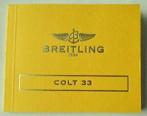 Breitling genuine manual, booklet, instruction booklet chrono colt.