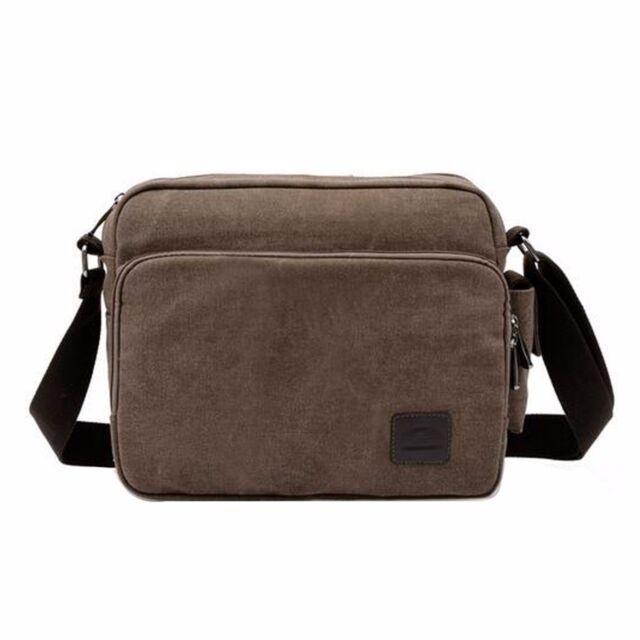 94857c5768 Men Vintage Shoulder Messenger Bag Canvas Satchel School Military ...