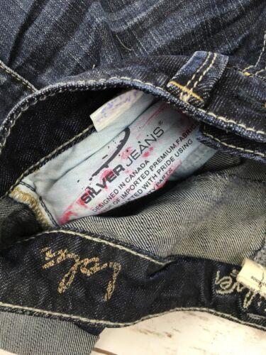 SILVER JEANS SHORTS Low Rise Lola Dark Stretch Denim Jean Shorts Plus 28 /& 34