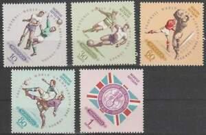 Mongolia-postfris-1966-MNH-420-424-WK-Voetbal-Londen-k069