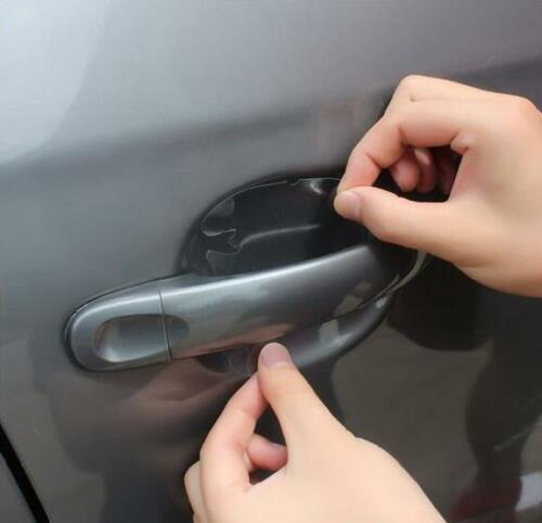 4x Invisible Transparent Car Side Door Handle Paint Scratch Protector Film Sheet