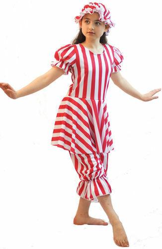 Dance Show-Sea Side-Victorian-Edwardian STRIPED BATHING BELLE All Sizes