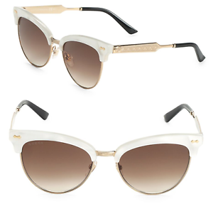 606f856dbad GUCCI GG 4283 S Women Sunglasses White Gold Cat Eye Mother of Pearl ...