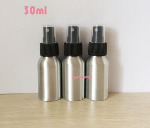 20pcs 30ml  Anodized Spray Aluminum  Bottle with black shower nozzle
