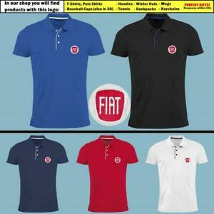FIAT-Slim-Fit-Polo-T-Shirt-EMBROIDERED-Auto-Car-Logo-Tee-Mens-Clothing-Gift