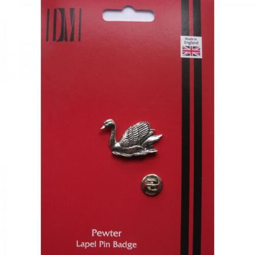 Cisne Estaño Inglés Pin De Solapa Insignia Waterbird observación de aves presentes Caja De Regalo