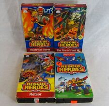 Rescue Heroes Fisher Price Lot of 4 VHS Animated Videos Lava Alarm Meteor Fire
