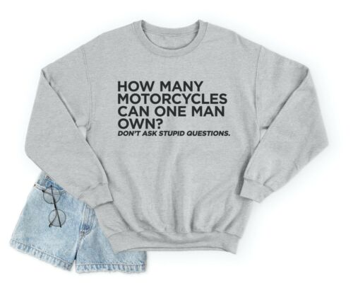 Combien de motos peut un homme Propre Pull Sweat-shirt funny moto Papa