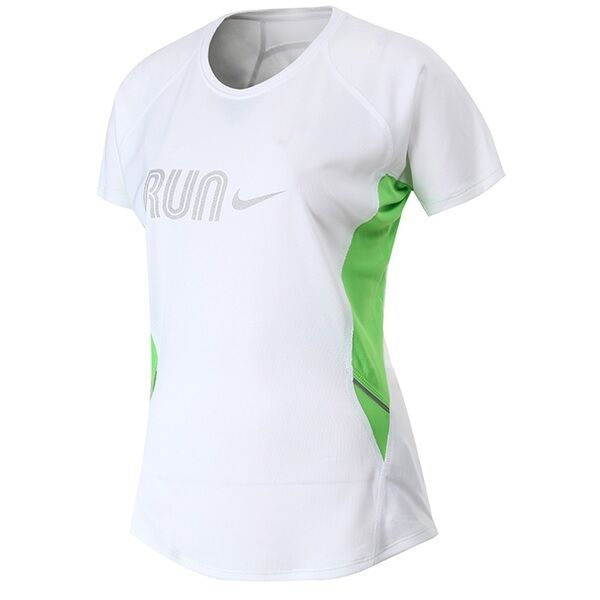 Nike Ladies T Shirt Womens Tshirt Fitness Gym Yoga Dri Fit White Running Top