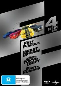Fast-amp-Furious-4-Film-Set-R4-Like-New-The-First-4-films-from-this-Franchise