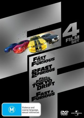 1 of 1 - The Fast And The Furious / 2 Fast 2 Furious / Tokyo Drift/Fast & Furious - DVD