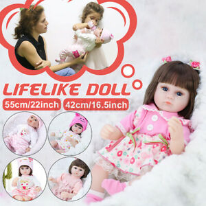 16-034-Lifelike-Baby-Real-Girl-Doll-Silicone-Vinyl-Handmade-Reborn-Newborn-Blue-Eyes