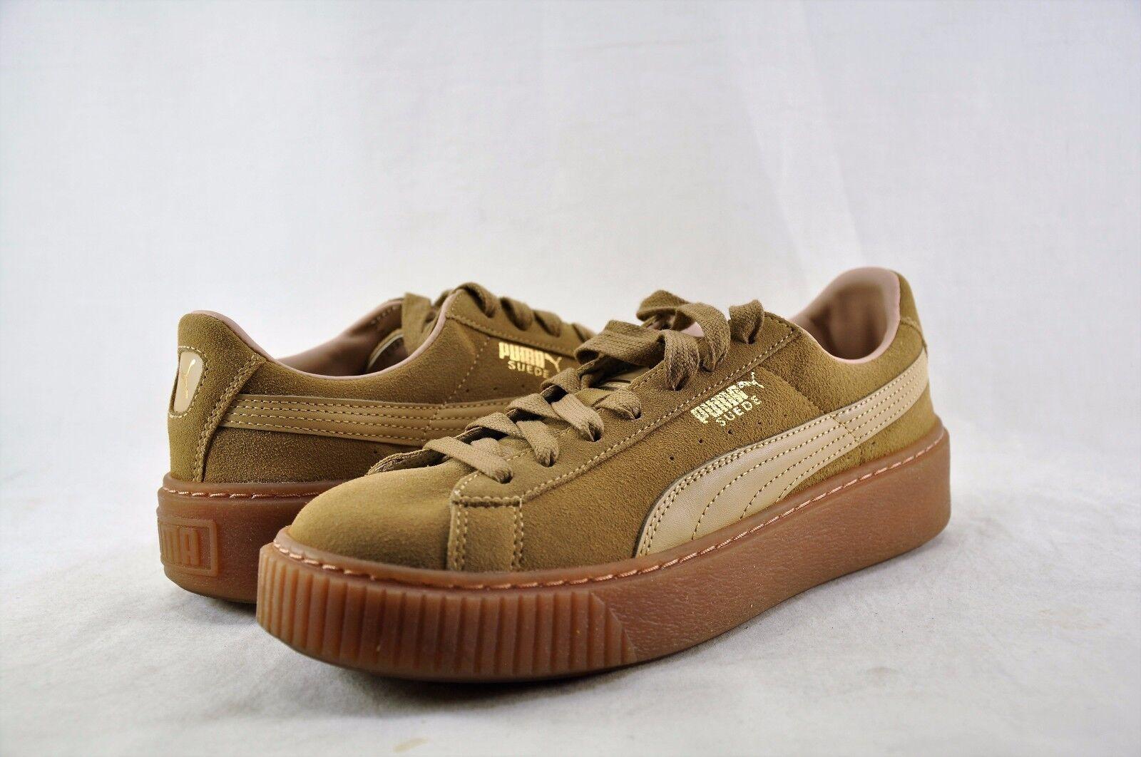 Women's Shoes Puma Suede Platform Core Oatmeal 36355903 Oatmeal Core Size 11 *New* 769a5e