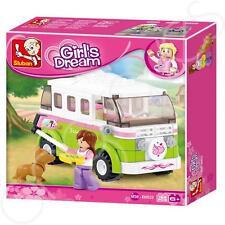 Sluban Children/Child/Kid Campervan Building Blocks Girls Toy B0523