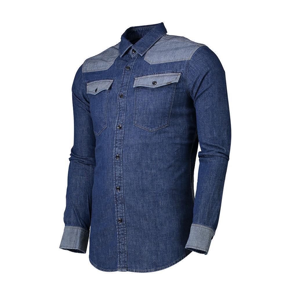 Gstar 3301 Pm Shirt Long Sleeve bluee Shirt Mens XS