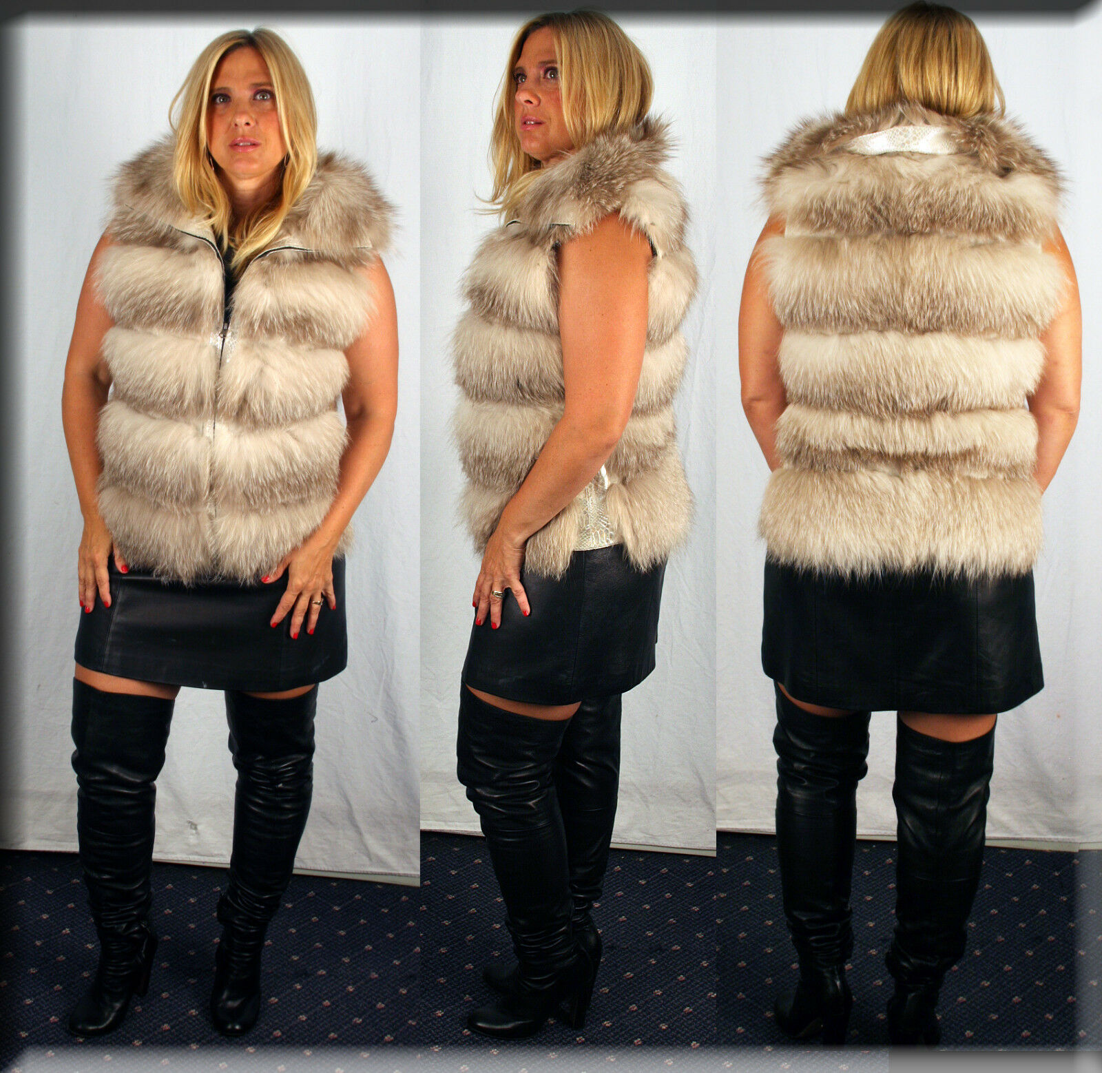 New Fawn Fox Fur Vest Size Small 4 6 S Efurs4less