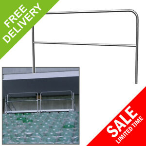 Details about Commercial Grade Portable Stage Handrail Band Event Hire  Staging Barrier 2m