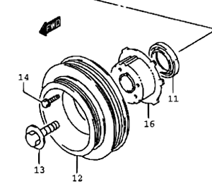 Details about Genuine Suzuki SWIFT 1994-2001 Crankshaft Crank Pulley Dual  Rib Belt 12611-50G00