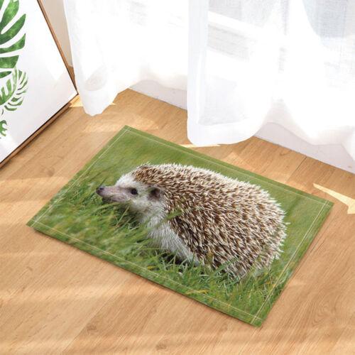 3D hedgehog animal design Shower Curtain Bedroom Waterproof Fabric /& 12hooks