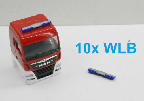 1:87 EM5904 10x Herpa WLB Techno Design blau Feuerwehr neu für  Umbau Eigenbau