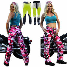 NEW LADYS MOTORCYCLE PINK CAMO REINFORCED WITH DuPont™ KEVLAR® JEANS 14