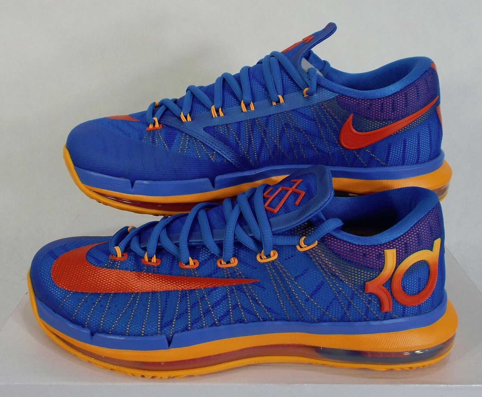 New Hommes 12.5 NIKE KD VI Elite Bleu Orange Basketball Chaussures  200 642838-400