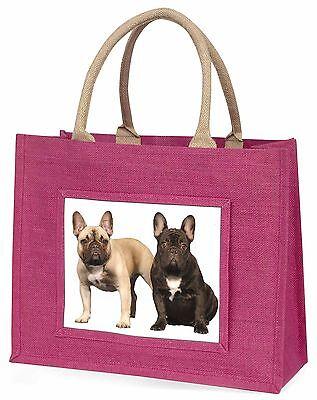 Französische Bulldogge Große Rosa Einkaufstasche Weihnachten Geschenkidee,