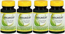 Migrelief Caplets, Migraine Relief Triple Therapy 60ct ( 4 pack ) PRIORITY SHIP!