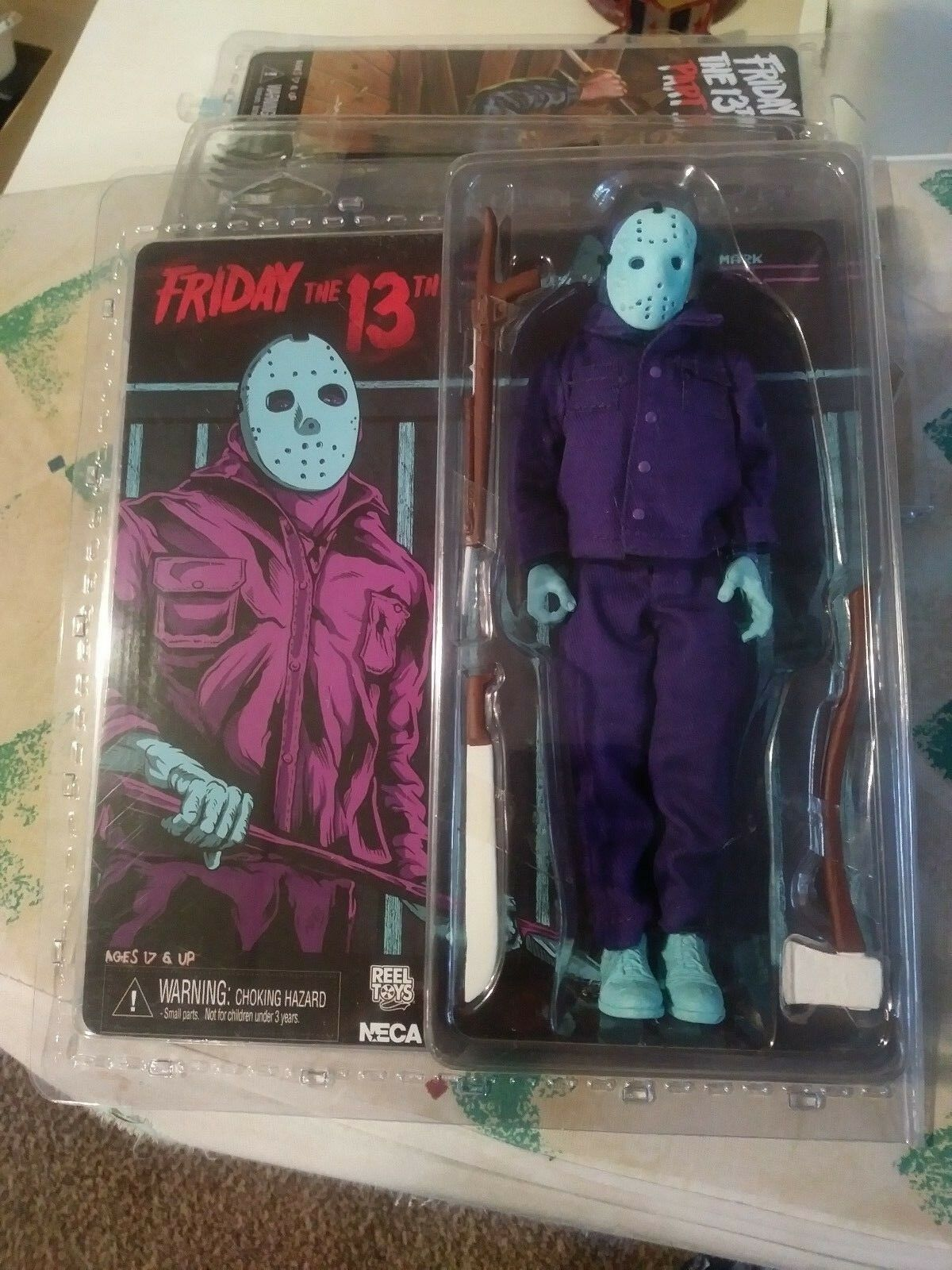 NECA NES JASON VOORHEES FRIDAY THE 13TH FIGURE 8 BIT VIDEO GAME TRU EXCLUSIVE