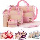 5pcs Baby Changing Diaper Nappy Bag Mummy Mother Handbag Multifunctional Set