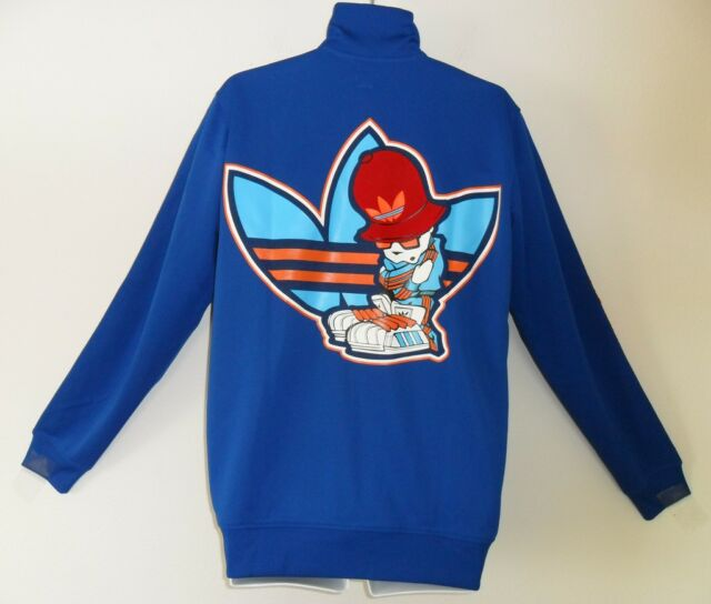 RARE~Adidas B BOY POSE Track sweat shirt Jacket Top superstar firebird~Mens sz M