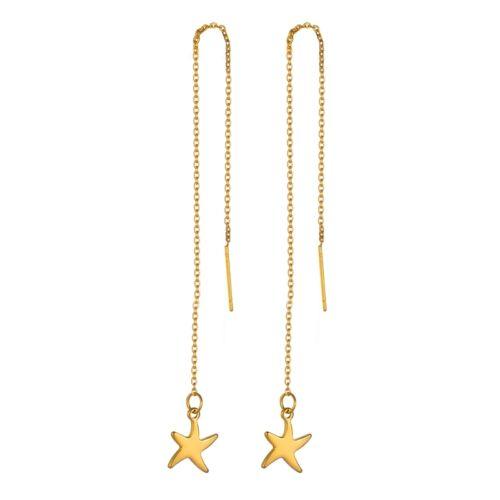 1 paire Boucle d/'oreill Fil d'oreille étoile Doré Acier Inoxydable Bijoux 14cm