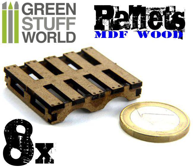 8x PALETS corte laser - Pallets modelismo dioramas infinity maquetas 40k
