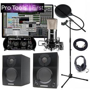 NEW Pro Tools First Home Recording Studio Bundle BT3 APEX 435B USB Interface