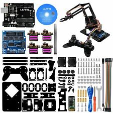 Lafvin 4dof Acrylic Robot Mechanical Arm Claw Kit Compatible With Arduino New